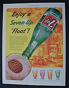 1955 7 Up (Seven Up) with Pouring Soda Into Ice Cream  (Image1)