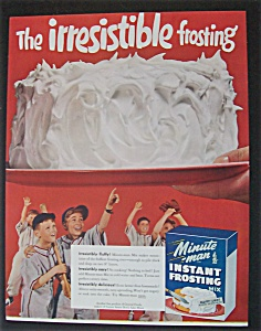1955 Minute Man Instant Frosting Mix