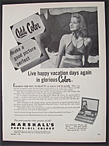 Vintage Ad: 1950 Marshall's Photo-Oil Colors (Image1)
