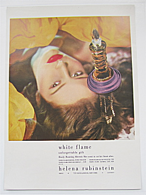 1946 Helena Rubinstein White Flame with Lovely Woman  (Image1)