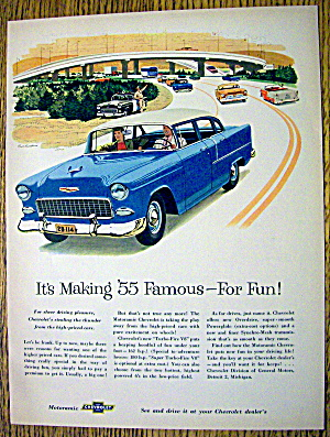 1955 Chevrolet with Man & Woman Driving In Chevy (Image1)
