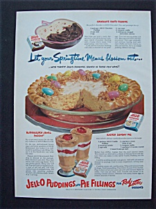 1951 Jell - O Puddings & Pie Fillings