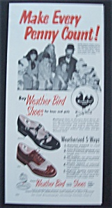 Vintage Ad: 1951 Weather-Bird Shoes (Image1)