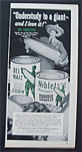 1951 Green Giant Niblets With Art Linkletter