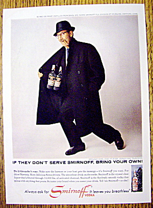 1965 Smirnoff Vodka With Groucho Marx
