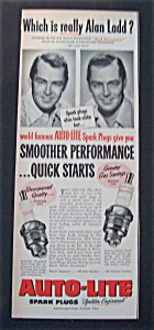 1951 Auto - Lite Spark Plugs With Alan Ladd