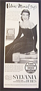 Vintage Ad: 1951 Sylvania Tubes With Patrice Munsel