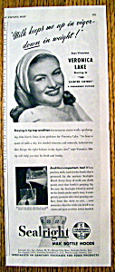 Vintage Ad: 1948 Sealright With Veronica Lake