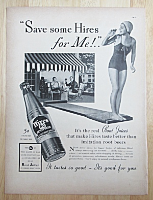 1937 Hires Root Beer with Girl on the Diving Board  (Image1)