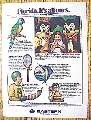 1977 Eastern Air Lines With Mickey & Minnie Mouse