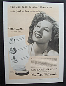 1943 Max Factor Make - Up With Rita Hayworth