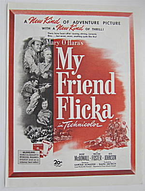 1943 My Friend Flicka With Roddy Mcdowall