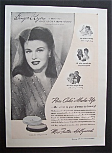 1943 Max Factor Pan-cake Make-up With Ginger Rogers