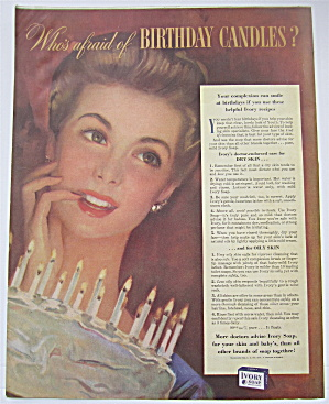 1943 Ivory Soap with Woman With Her Birthday Candles (Image1)