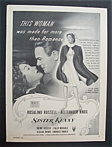 1946 Movie Ad For Sister Kenny
