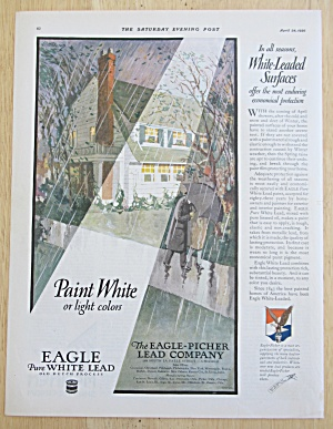 1926 Eagle Pure White Lead Paint with House in the Rain (Image1)