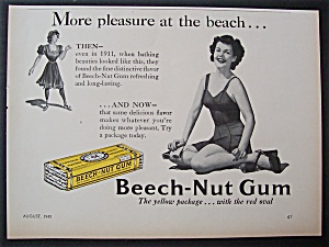 1942 Beech-Nut Chewing Gum with Woman in Bathing Suit (Image1)