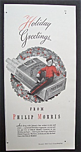 1943 Philip Morris Cigarettes W/ Philip Morris Bellboy
