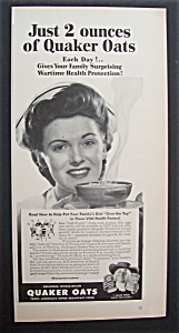 1943  Quaker  Oats  Cereal (Image1)