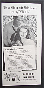 1943 Woodbury Cold Cream With Rita Hayworth