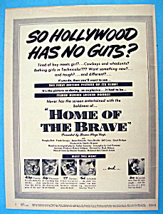 Vintage Ad: 1949 Home Of The Brave