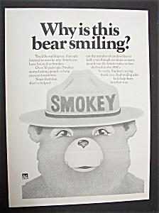1975 Smokey The Bear with Smokey Smiling (Image1)