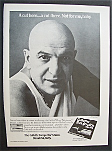 1976 Gillette Twinjector Blades With Telly Savalas