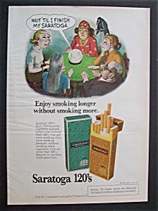 1976  Saratoga  120's  Cigarettes (Image1)