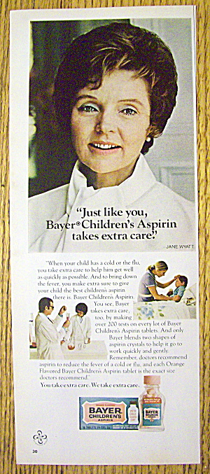 1973 Bayer's Children's Aspirin With Jane Wyatt