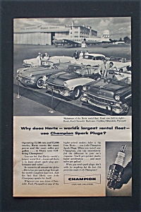 1956 Champion Spark Plugs with People By Cars  (Image1)
