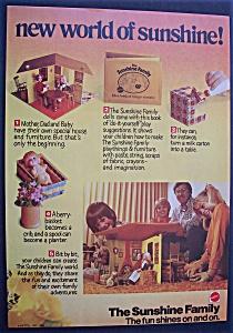 Vintage Ad: 1974 Mattel Sunshine Family (Image1)