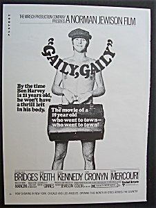 1970 Movie Ad For Gaily, Gaily