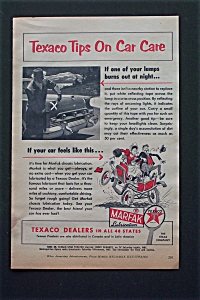 1956 Texaco With Tips On Car Care