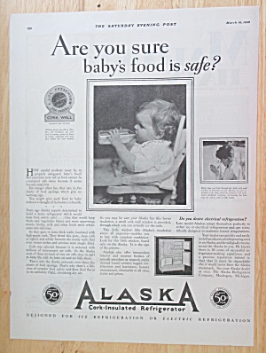 1928 Alaska Cork Insulated Refrigerator with Baby  (Image1)