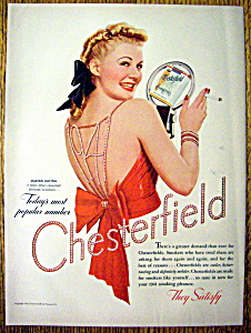 1941 Chesterfield Cigarettes With Marion Hutton