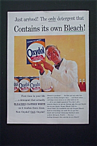1956 Oxydol Detergent with Man Holding Box Of Detergent (Image1)