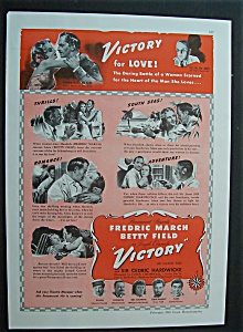 1941 Movie Ad For Victory