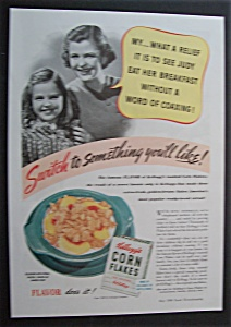 1940 Kellogg's Corn Flakes with a Mother & Daughter (Image1)