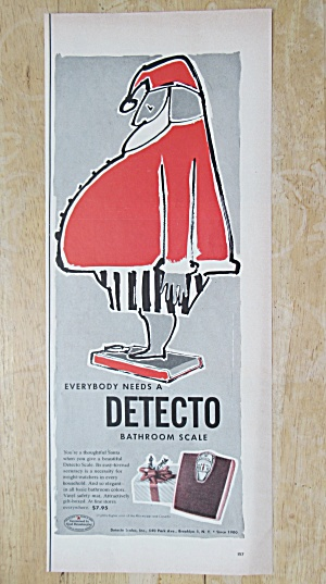 1955 Detecto Bathroom Scale with Santa Claus  (Image1)