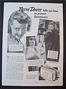 1937 Lux Toilet Soap With Bette Davis