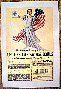 WW II Era 1937 United States Savings Bonds Patriotic Ad (Image1)