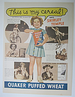 1937 Quaker Puffed Wheat with Shirley Temple (Image1)