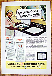 Vintage Ad: 1937 General Electric Sink