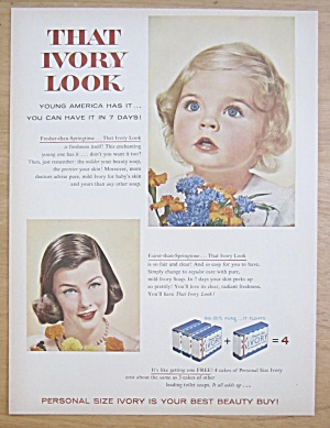 1956 Ivory Soap with a Springtime Baby  (Image1)