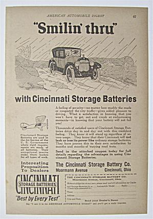 1923 Cincinnati Storage Batteries with Car Driving  (Image1)