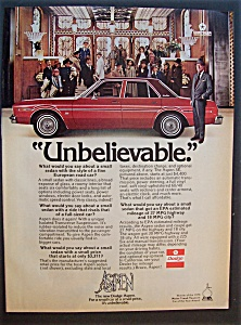 Vintage Ad: 1976 Dodge Aspen With Rex Harrison
