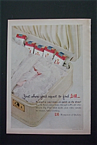 1956 L & M Cigarettes With 5 Packs in a Suitcase (Image1)