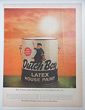 1964 Dutch Boy Paints with Can of Latex House Paint  (Image1)