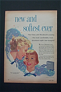 1956 Kotex with Mom & Daughter Looking at Each Other  (Image1)