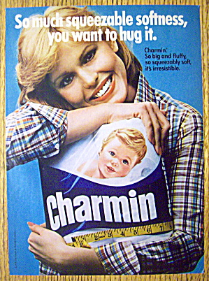 1978 Charmin Toilet Tissue With Woman Hugging Tissue